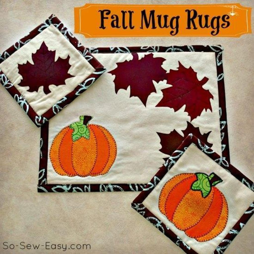 Free Fall Mug Rugs Pattern