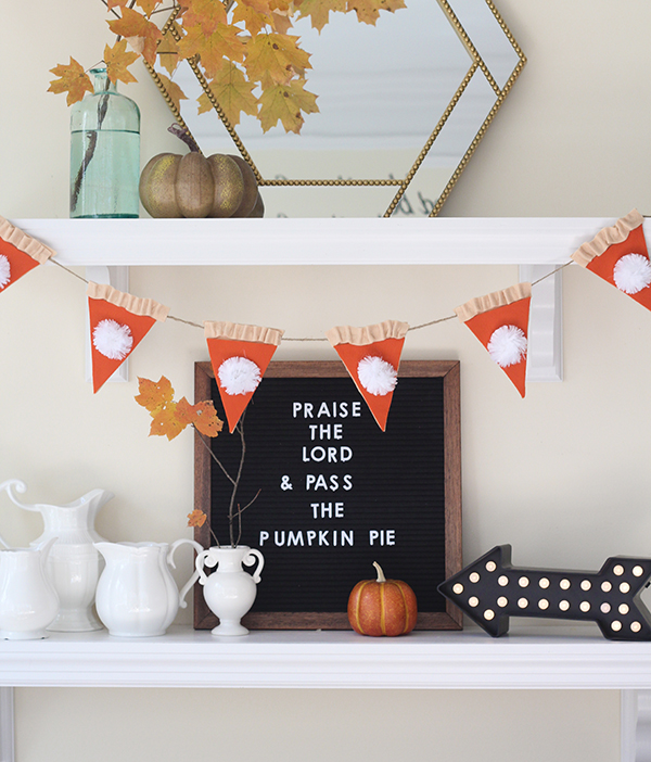 Free Pumpkin Pie Decoration Project for Thanksgiving