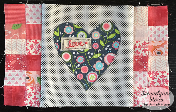 Valentines day mini quilt pattern & tutorial jacquelynne steves