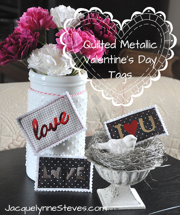 Valentine's Day Sewing Project- Quilted Tags