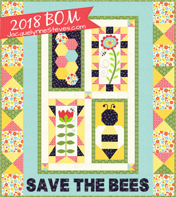 save the bees block of the month jacquelynne steves