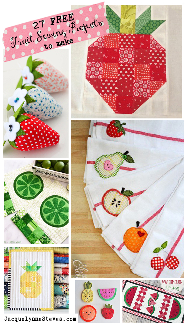 27 Free Fruit Sewing Projects to Make