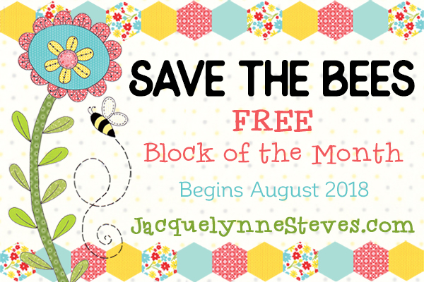 "Our ""Save the Bees"" Free Block of the Month Featured Bloggers!"