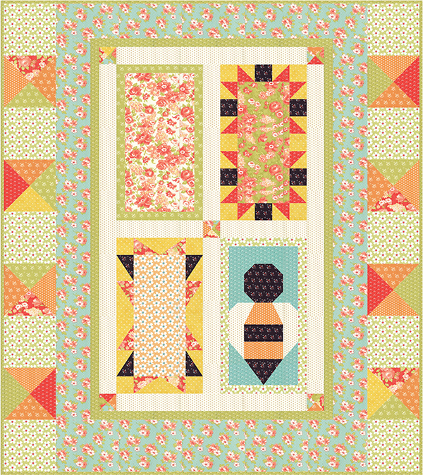 Color & Fabric Ideas for Save the Bees Free Block of the Month