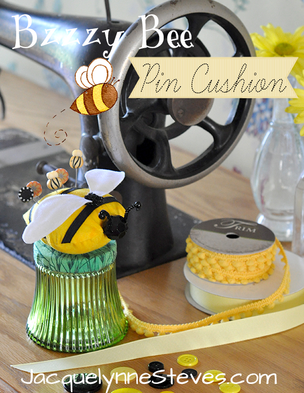 Free Bzzzy Bee Pin Cushion Pattern