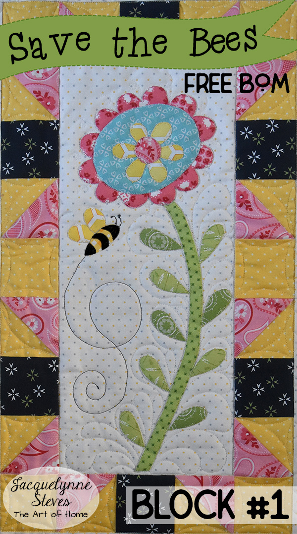 Save the Bees Block 1 is here!