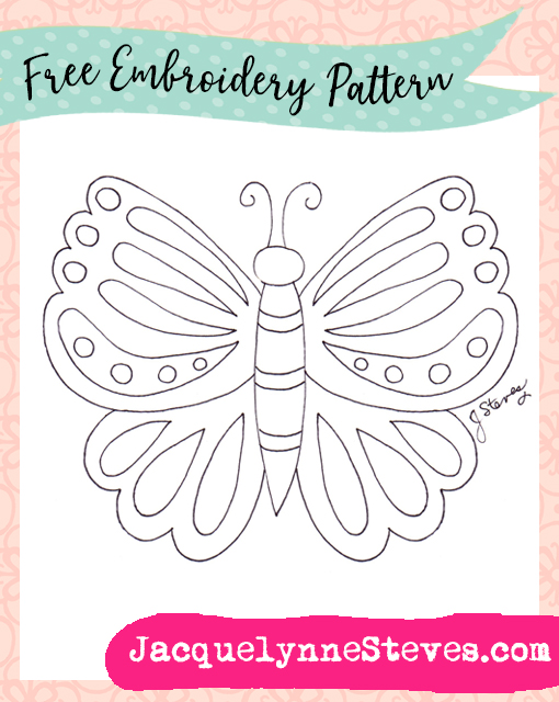 Free Embroidery Pattern- Springtime Butterfly!