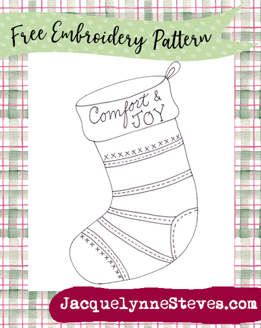 Free Embroidery Pattern- Comfort & Joy Christmas Stocking!