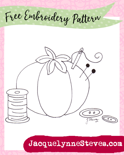 Free Embroidery Pattern- Tomato Pin Cushion! - Jacquelynne