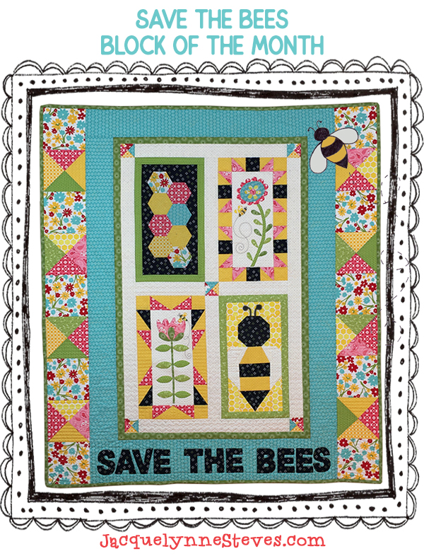 Save the Bees Borders & Finishing! Ta-da!!