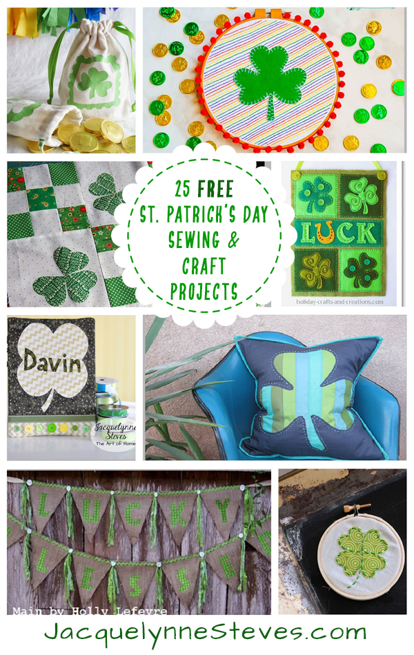25 Free St. Patrick's Day Projects to sew & craft
