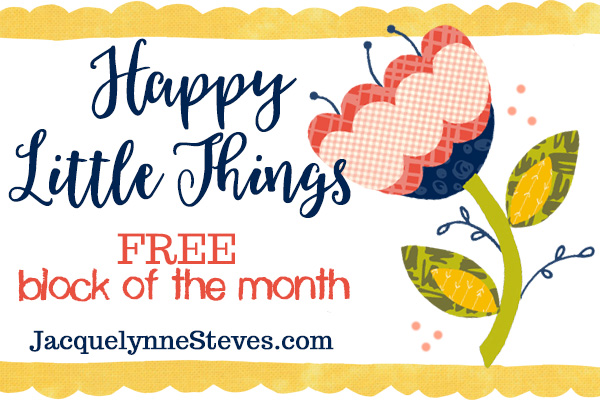 Free Coloring Sheet- Happy Little Things Quilt
