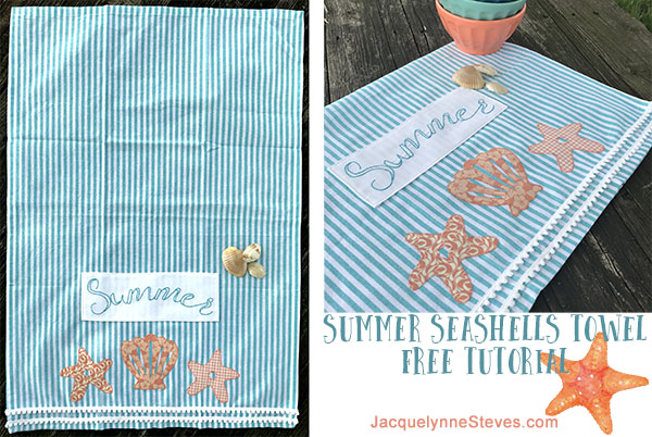 Free Tutorial- Summer Seashells Towel