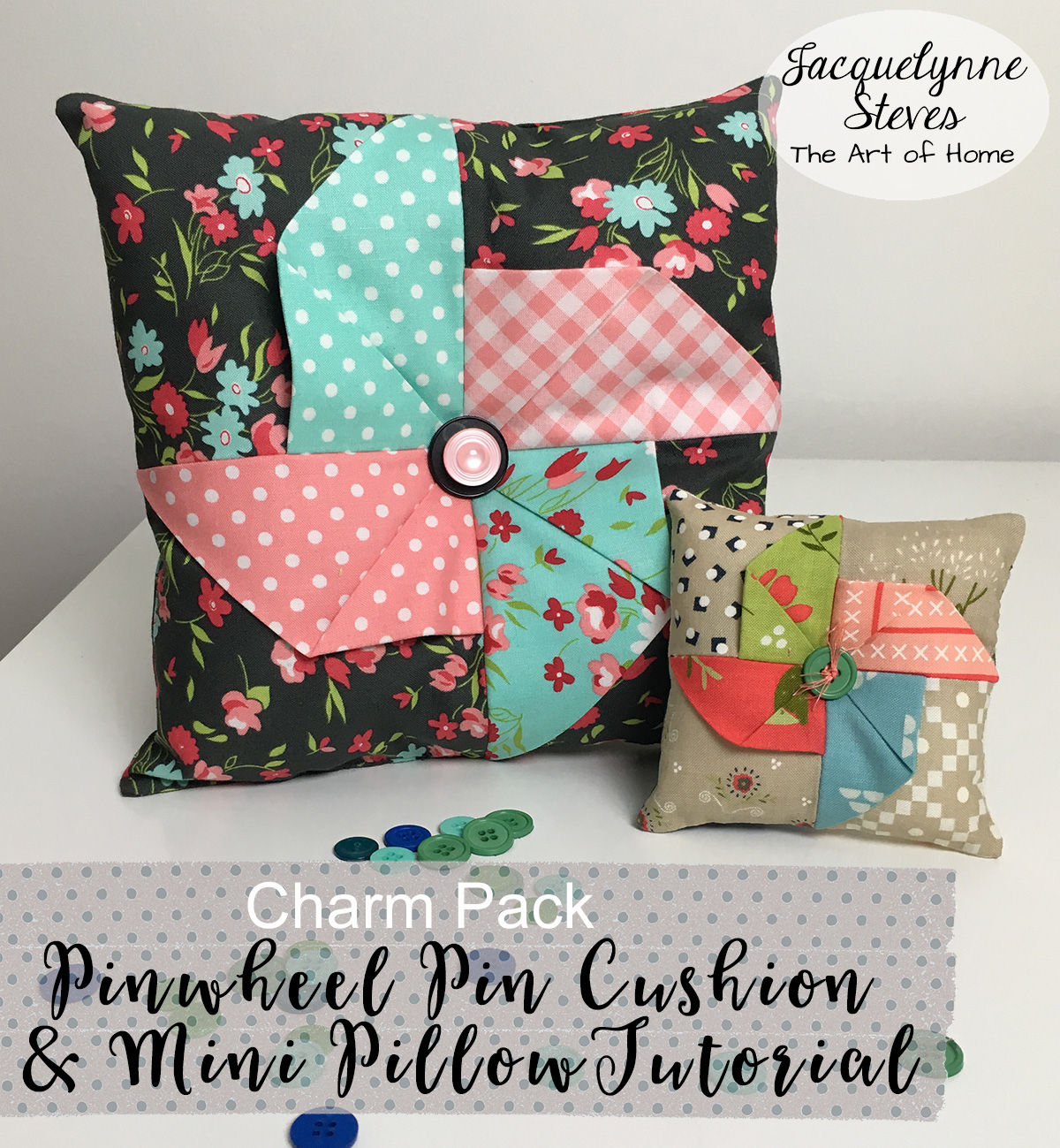 Pinwheel Pin Cushion & Mini Pillow Tutorial