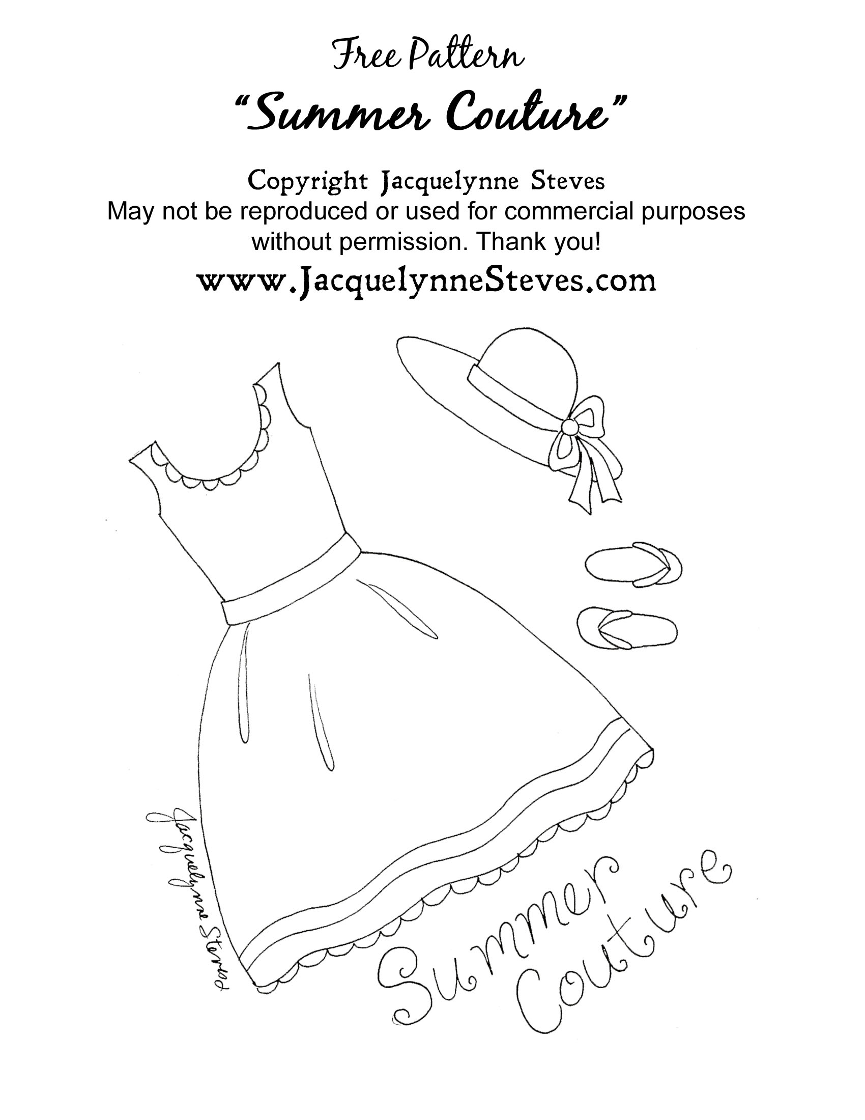 Free Summer Couture Embroidery Pattern