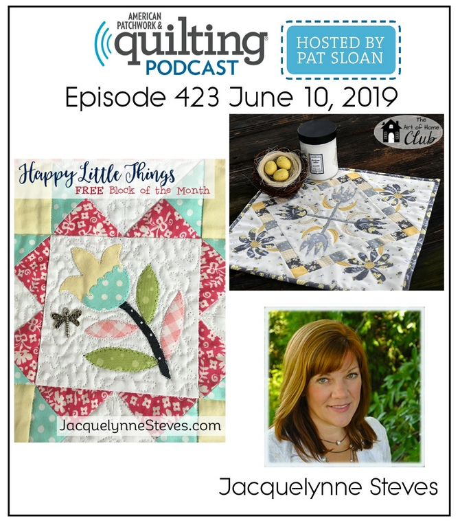 Join me TODAY on the American Patchwork & Quilting Podcast!