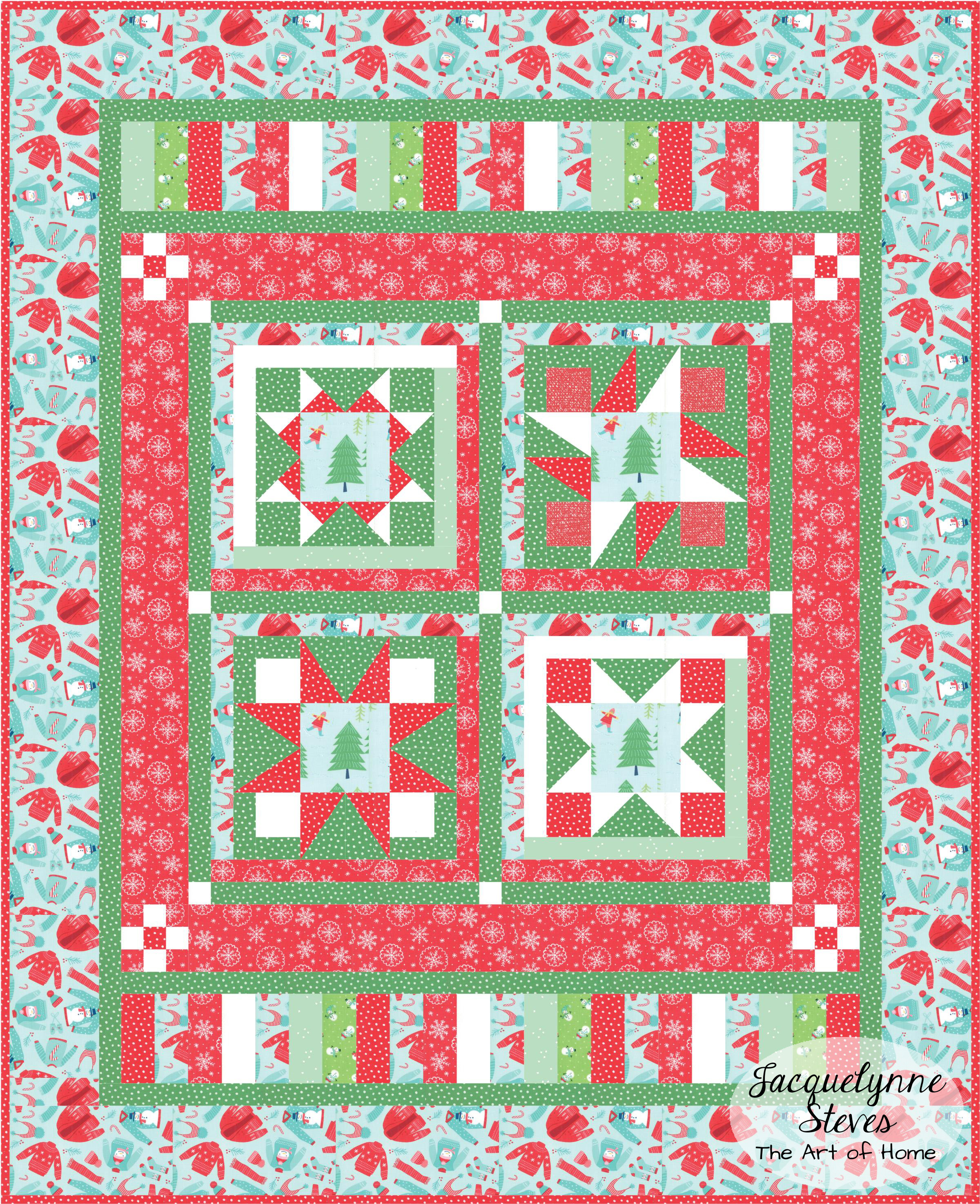 Color & Fabric Ideas for Happy Little Things Free Block of the Month