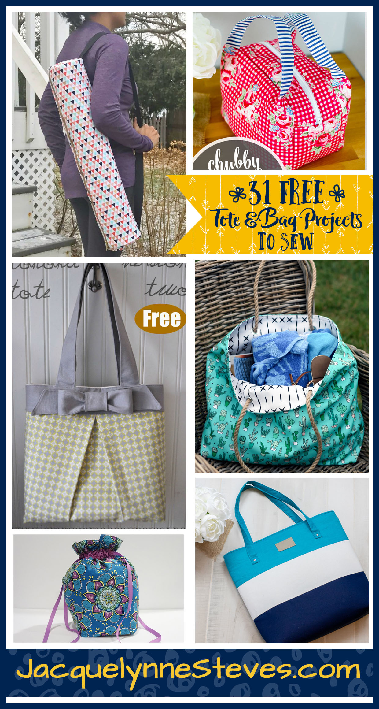 31 Free Tote & Bag Patterns To Sew