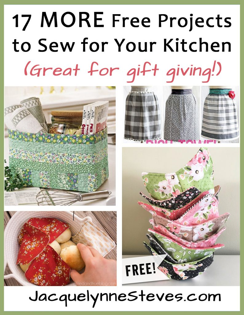 17 More Projects To Sew For Your Kitchen Jacquelynne Steves