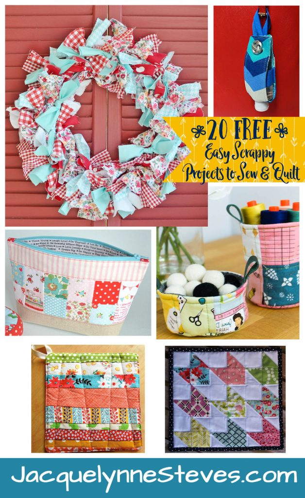 20 FREE Easy Scrappy Projects to Sew & Quilt