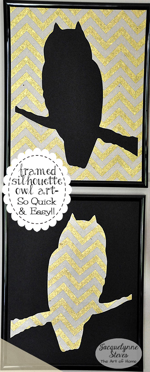 Free Owl Silhouette Wall Art Project- So Quick & Easy!