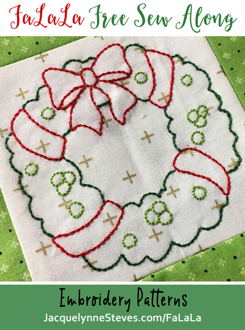 FaLaLa Sew Along – Embroidery Patterns Released!