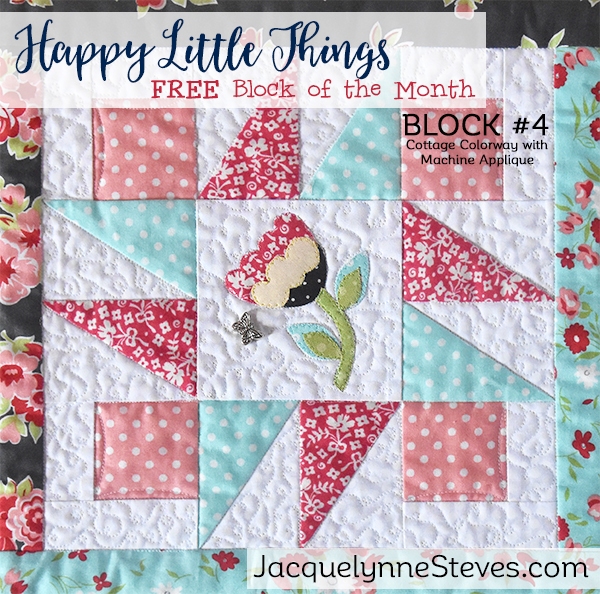 Happy Little Things BOM Block 4 is here!