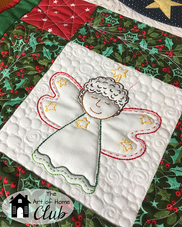 Christmas Angels Among Us quilt, table runner and pillow!