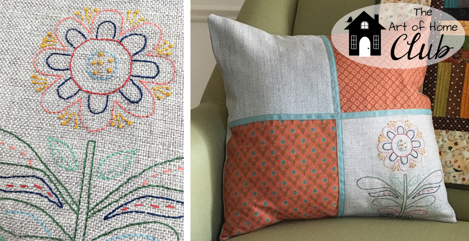 My embroidery tip has been featured on the Redfin blog!