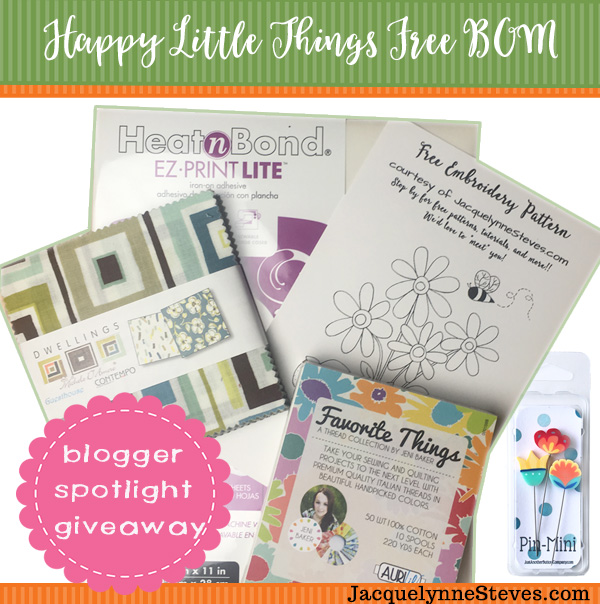 "Our ""Happy Little Things"" Free Block of the Month GIVEAWAY & Featured Bloggers!"