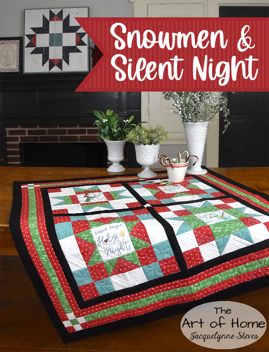 Free Snowman Quilt Sew Along – Block 1 is here!
