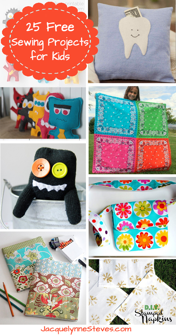 25 Free Sewing Projects for Kids
