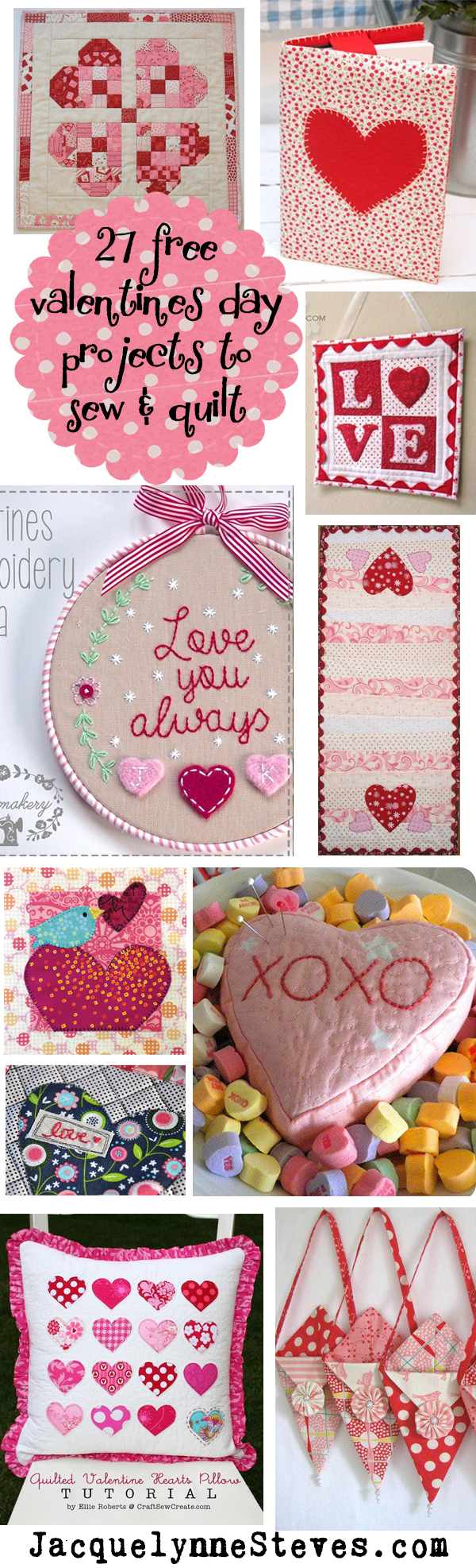 27 Free Valentine's Day Patterns & Projects to Sew and Quilt