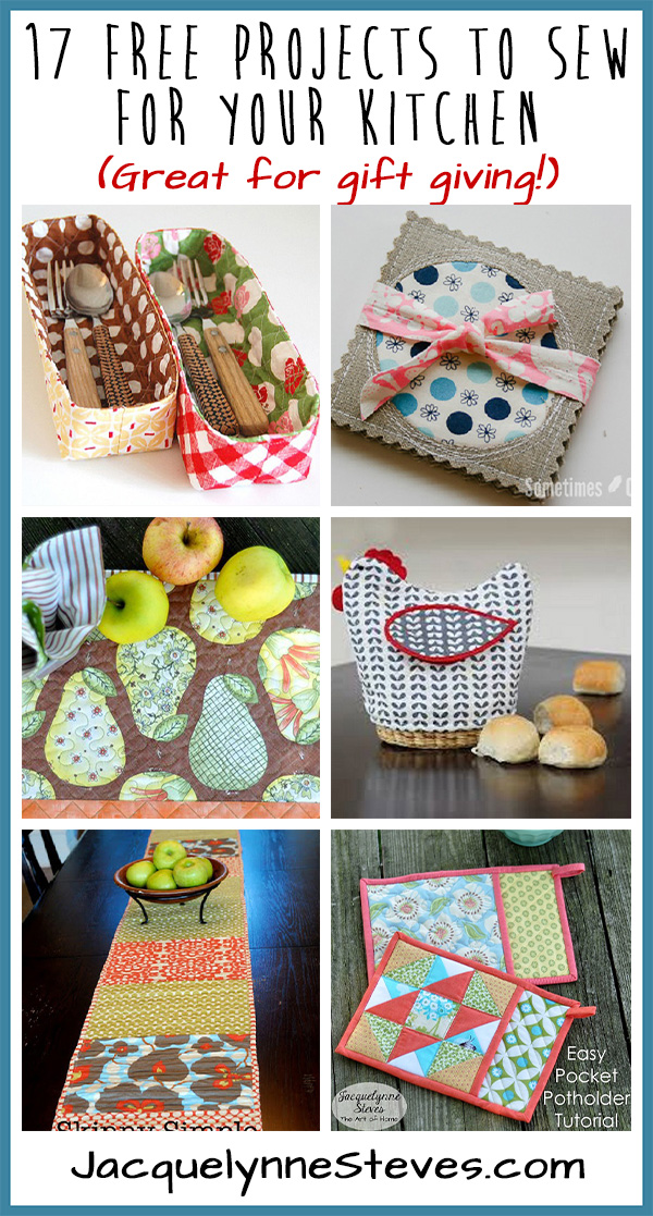 17 Free Projects to Sew for Your Kitchen