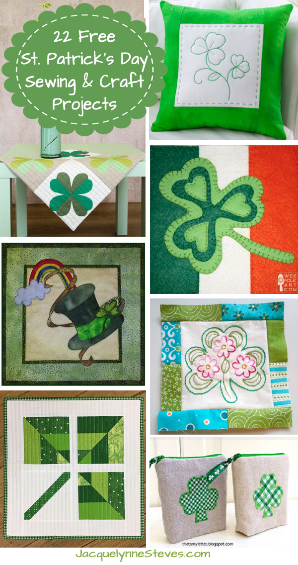 22 St. Patrick's Day Sewing and Craft Projects