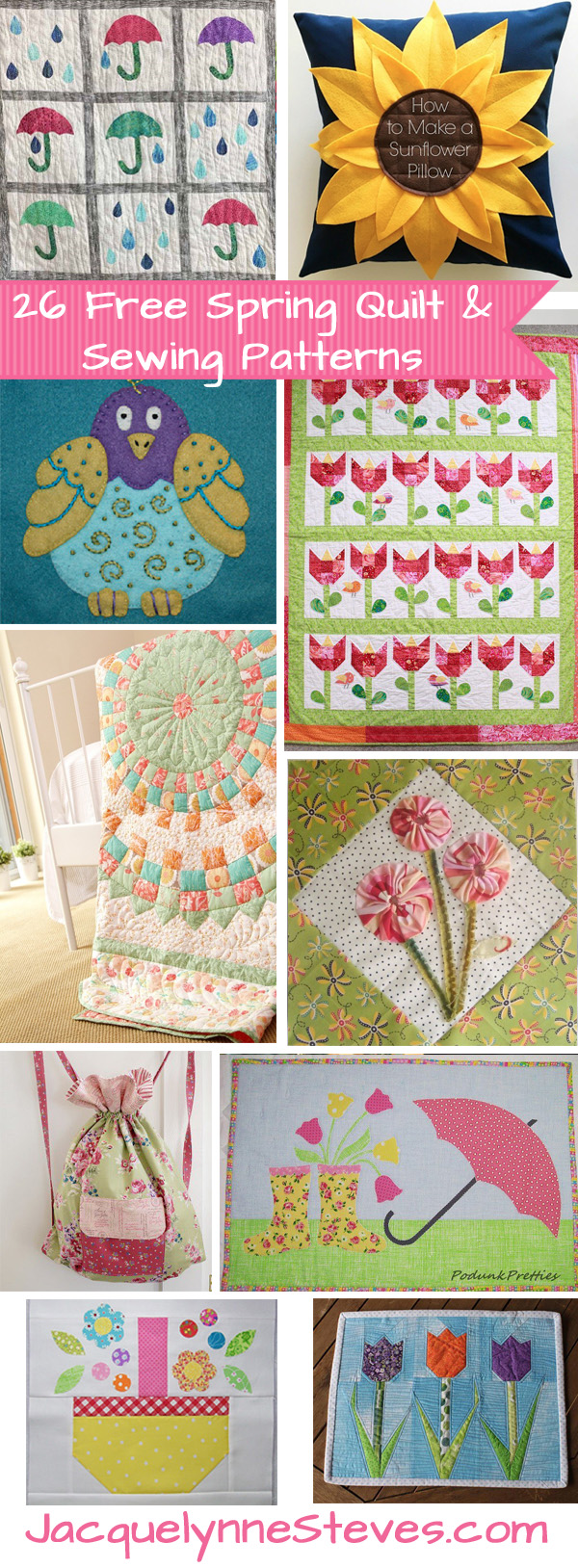 26 Free Spring Quilt & Sewing Projects