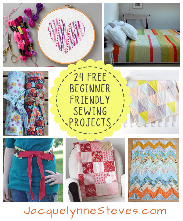 24 Fun Sewing, Quilting and Embroidery Patterns for Beginners