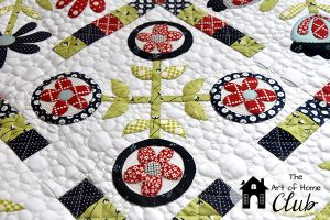 Little Bit Baltimore Quilt closeup- The Art of Home Club- Jacquelynne Steves