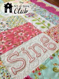 Sing Embroidery Preview- The Art of Home Club