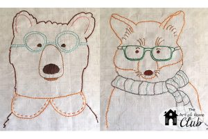 The Art of Home Club- Bear and Fox Embroidery2- Jacquelynne Steves
